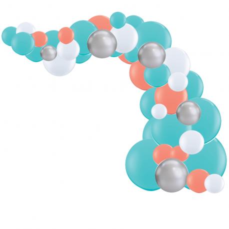 Kit Arche de Ballons Organiques - Modèle Ariel Petite Sirène Disney