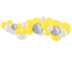 Kit Guirlande de Ballons Organiques - Modèle Jaune et Argent