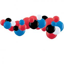 Kit Guirlande de ballons organiques - Modèle Spiderman