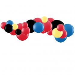 Kit Guirlande de ballons organiques - Modèle Mickey Mouse