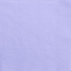 20 Serviettes Unies Parme Pastel - Anniversaire pour Enfants
