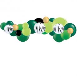 Kit Arche de Ballons Organiques - Modèle Jungle Zèbre