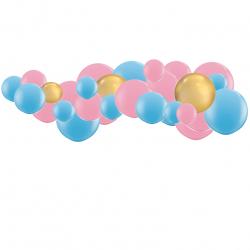 Kit Guirlande de Ballons Organiques - Modèle Gender Reveal