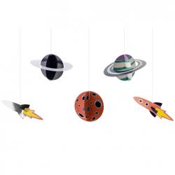 5 Décorations à Suspendre Anniversaire Astronaute & Espace