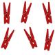 Petites Pinces en Bois Rouge