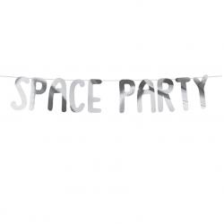 Guirlande Space Party Argent - Anniversaire Astronaute & Espace