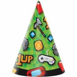 Chapeaux de fête - Anniversaire Thème Jeux Vidéo Consoles