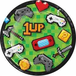 Petites Assiettes en Papier Game On - Décoration Anniversaire Thème Jeux Vidéo Consoles