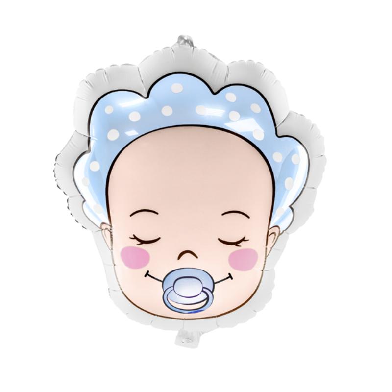 Grand ballon alu bébé garçon - décoration baby shower