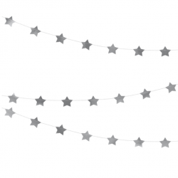120 Stickers Etoiles Adhésif Glitter Argent - Autocollants