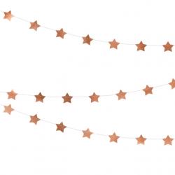 Guirlande d'étoiles rose gold cuivré- Décoration de fête