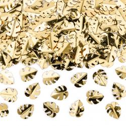 Confettis de table feuilles de palmier doré - Décoration