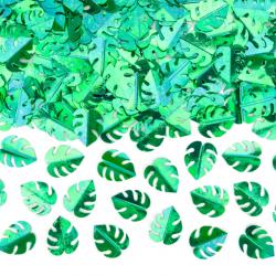 Confettis de table feuilles de palmier vert - Décoration