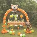 10 Ballons A Queue Pour Arche - Orange Décoration de fête