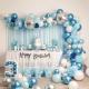 Kit Arche de Ballons Organiques - Modèle Bleu et blanc