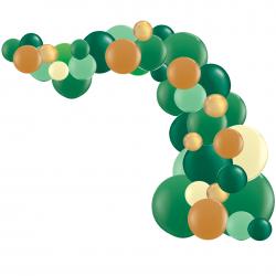 Kit Arche de Ballons Organiques - Modèle Jungle Vert Marron