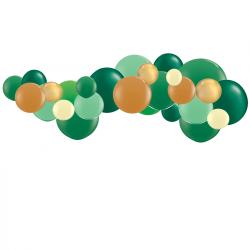 Kit Guirlande de Ballons Organiques - Modèle Jungle Vert Marron