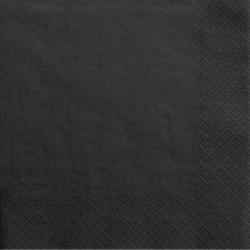 Grandes Serviettes en Papier Noir Premium