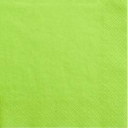 Grandes serviettes en Papier Vert Anis - Vaisselle jetable