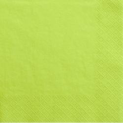 Grandes serviettes en Papier Vert Pomme - Vaisselle jetable