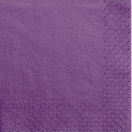 Grandes Serviettes en Papier Violet Foncé