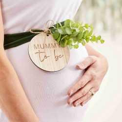 Echarpe Future Maman Baby Shower Eucalyptus