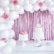 Rideau à Franges Rose Poudré Métallisé - Décoration Sweet Table à suspendre