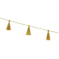 Guirlande de Mini Pompons Tassels Fil doré