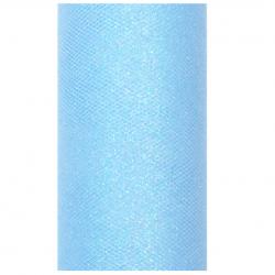 Chemin de table bleu pailleté - Décoration de table