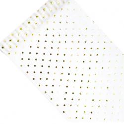 Chemin de table organza à pois doré brillant premium
