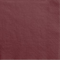 Grandes Serviettes Papier Pêche Rouge Bordeaux Vaisselle Jetable de Fête