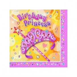 Serviettes Anniversaire Jolie Princesse