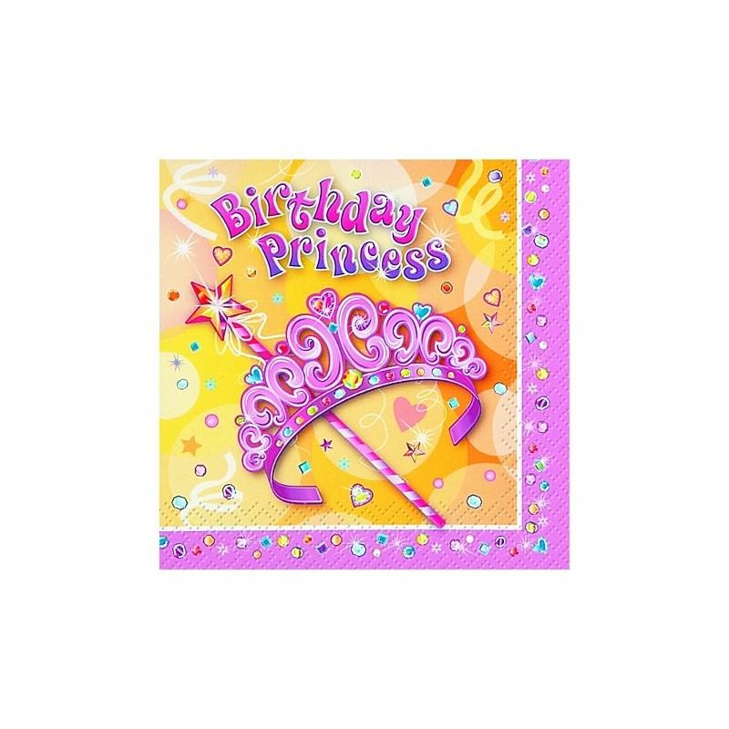 Serviettes En Papier Anniversaire Jolie Princesse