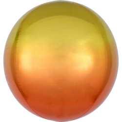 Ballon Miroir Premium Jaune Orange - Orb Ombré Décoration