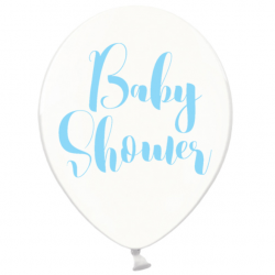 Ballons Latex Baby Shower bleu - Décoration Baby Shower Garçon