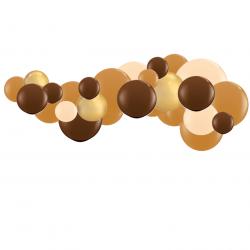 Kit Arche de Ballons Organiques Marron et Pêche