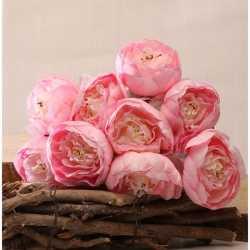 Gros bouquet de Pivoines roses Fleurs Artificielles Premium