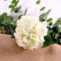 Hortensias Blanches Fleurs Artificielles Premium