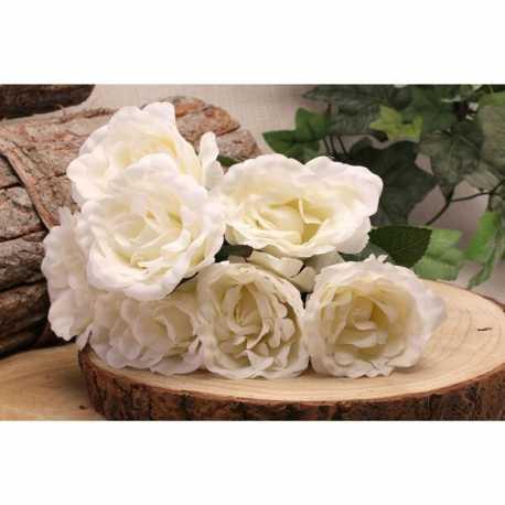 Bouquet de roses blanches Fleurs Artificielles Premium