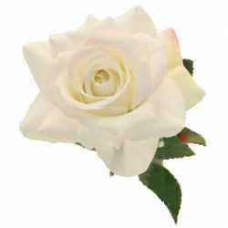 Rose Crème Fleur Artificielle Premium sur Tige