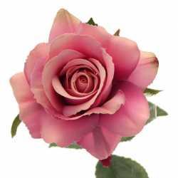 Rose Mauve Fleur Artificielle Premium sur Tige