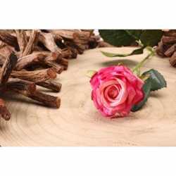 Rose Fleur Artificielle Premium sur Tige Rose Fushia