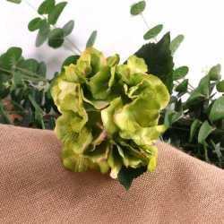 Hortensias Verts - Fleurs Artificielles Premium