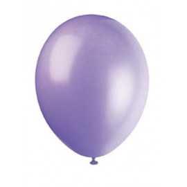 10 Ballons Gonflables Latex Lilas Lavande Fête