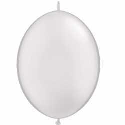 50 Ballons A Queue Pour Arche - Blanc Décoration de fête