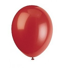 10 Ballons Gonflables Latex Rouge Fête