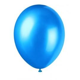 8 Ballons Gonflables Latex Bleu Evasion Nacrés Fête