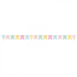 Banderole Premium Happy Birthday Gourmandises Pastel anniversaire gourmandises