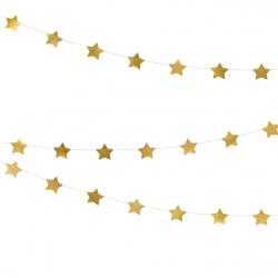 Guirlande Etoiles Glitter Doré Décoration de fête