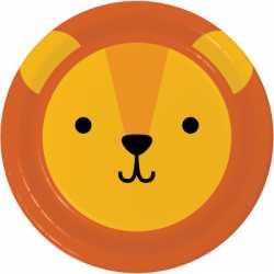 Assiettes Lion - Anniversaire Animaux de la forêt